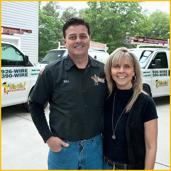 Wire Wiz Electrician Services | Michael and Virginia Darragh | Owners